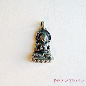Pendant - Silver S, Buddha