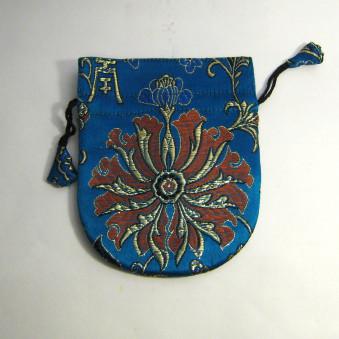 Brocade bag S, brocade bag with flower pattern / 10-Pack