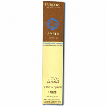 Faircense Faircense Incense Amber 100% natural ingredients and pure essences, rolled by hand with Masala method, Auroville India / 10-Pack