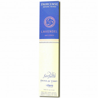Faircense Faircense Incense Lavender 100% natural ingredients and pure essences, hand-rolled using Masala method, Auroville India / 10-Pack