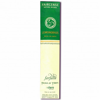 Faircense Faircense Incense Lemongrass 100% natural ingredients and pure essences, hand-rolled using Masala method, Auroville India / 10-Pack