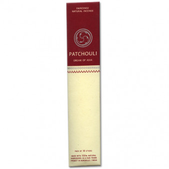 Faircense Faircense incense sticks Patchouli 100% natural ingredients and pure essences, rolled by hand with Masala method, Auroville India / 10-Pack