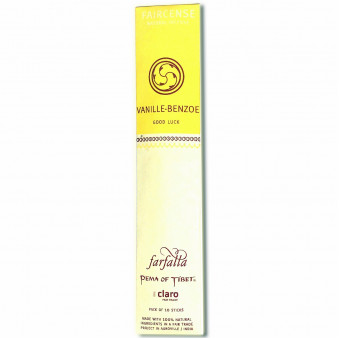 Faircense Faircense Incense Vanilla Benzoin 100% natural ingredients and pure essences, hand-rolled using masala method, Auroville India / 10-Pack