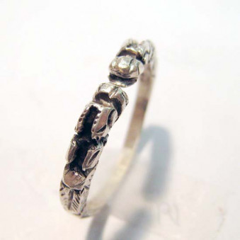 Rings Ri-01 Finger Ring Dragon Open 925-Silver Carved Carved Handcrafted Nepal