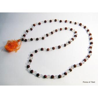 Prayer Beads Mala with Crystal Rudrakhasha Fruit / 2-Pack