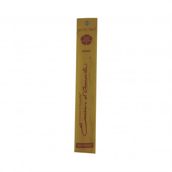 Enclos d'Auroville Encens d'Auroville Incense Amber contains exquisite natural ingredients and essences, rolled by hand, Auroville India / 10-Pack