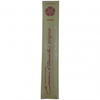 Encens d'Auroville Encens d'Auroville Incense Jasmine contains exquisite natural ingredients and essences, rolled by hand, Auroville India / 10-Pack