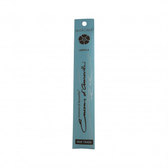 Encens d'Auroville Encens d'Auroville Incense Vanilla contains exquisite natural ingredients and essences, rolled by hand, Auroville India / 10-Pack