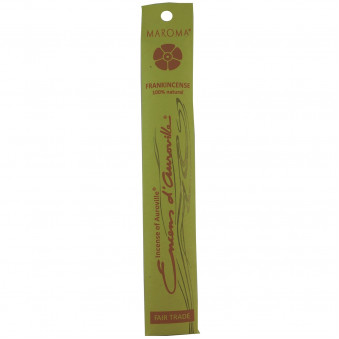 Encense d'Auroville Incense Incense Frankincense contains exquisite natural ingredients and essences, rolled by hand, Auroville India / 10-Pack