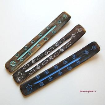 Incense - holder wooden ship (antique look) / 6-Pack