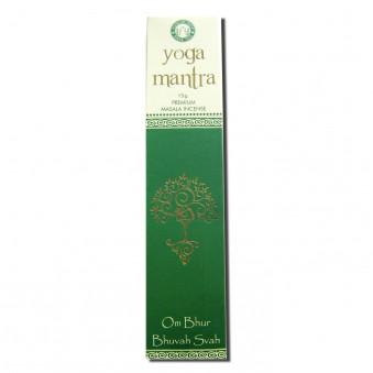 Meditation Incense Yoga Mantra (OM Bhur Bhuvah Svah) / 12-Pack