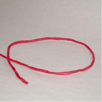 Silk ribbon light red / 5-Pack