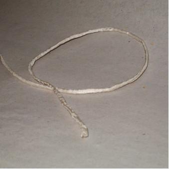 Silk ribbon white / 5-Pack