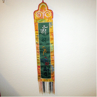 Thangka OM embroidered, vertical S