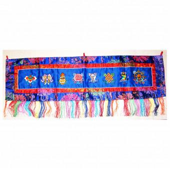 Thangka lucky symbols embroidered, horizontal M