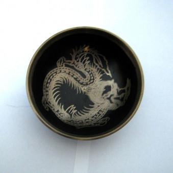 New Singing Bowl Silver Dragon 10 cm // M