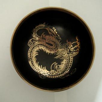 New Singing Bowl Silver Dragon 14.5 cm // L