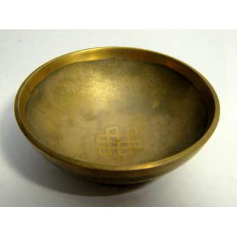 Singing bowl OM + meander graphed