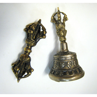 Sound, bell bell with vajra 11 cm