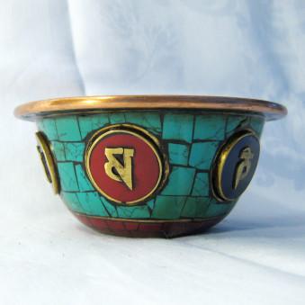 Offering bowls offering bowl with OM symbols
